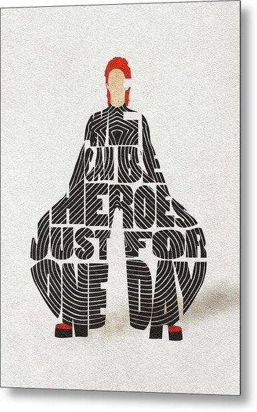 David Bowie Typography Art Metal Print