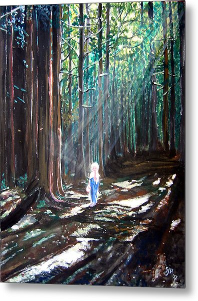 David In The Forest Metal Print
