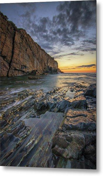 Dawn At Bald Head Cliff Metal Print