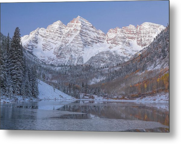 Metal Print featuring the photograph Dawn At Maroon Bells 2 by Jemmy Archer