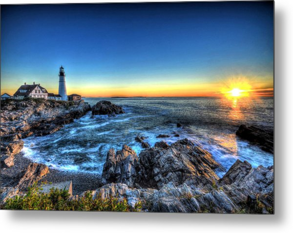 Dawn At Portland Head Lighthouse Metal Print