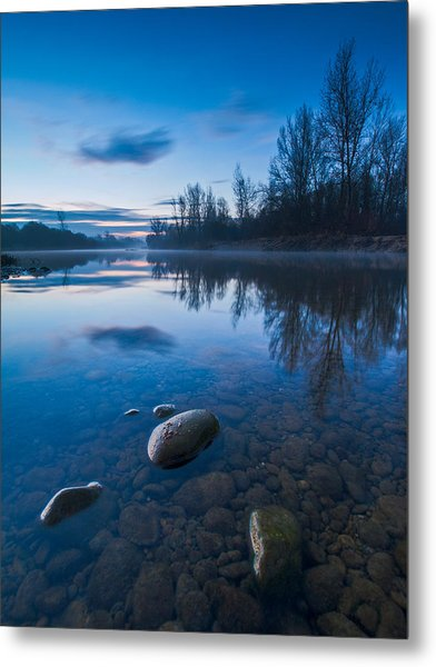 Dawn At River Metal Print