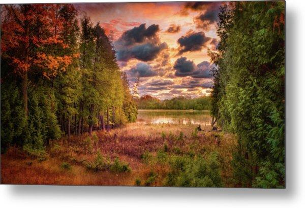 Dawn At The Lake Metal Print