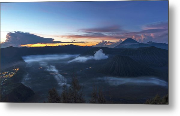 Metal Print featuring the photograph Dawn Breaking Scene Of Mt Bromo by Pradeep Raja Prints