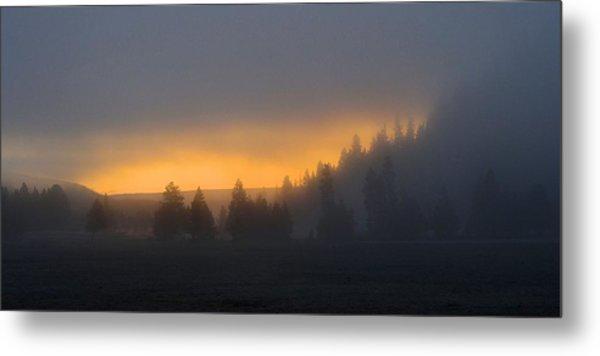Dawn On A Misty Morning Metal Print