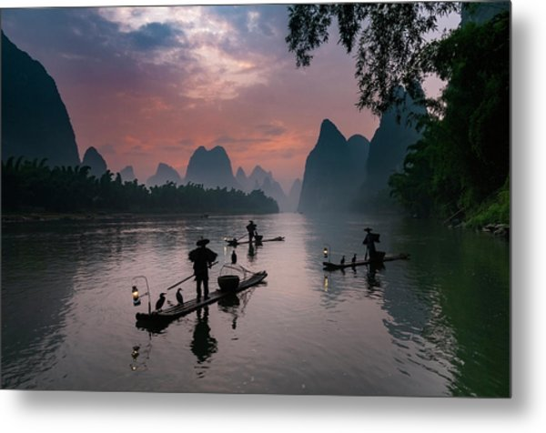 Waiting For Sunrise On Lee River. Metal Print
