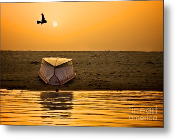 Dawn On The Ganga Metal Print