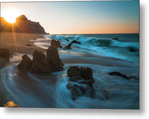 Metal Print featuring the photograph Dawn Over The Cliffs by Owen Weber