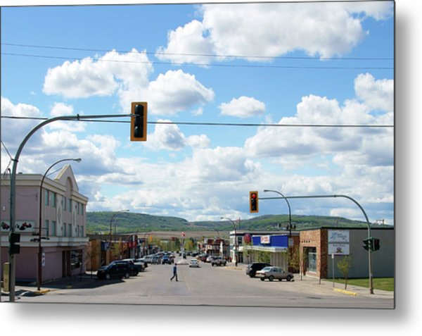 Dawson Creek British Columbia Metal Print by Robert Braley