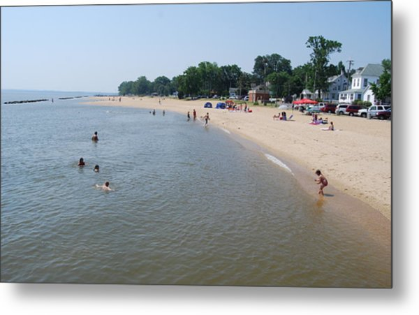 Day At The Beach Metal Print by Jennifer Lauren