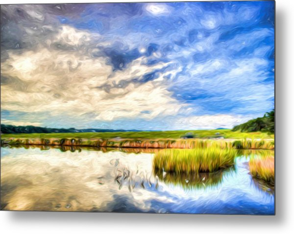 Day At The Marsh Metal Print