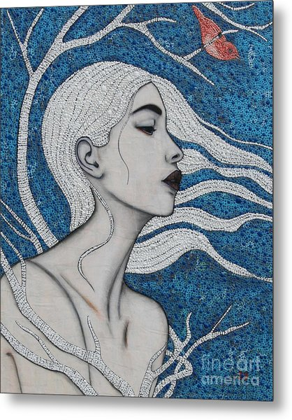 Metal Print featuring the mixed media Day Dreamer by Natalie Briney