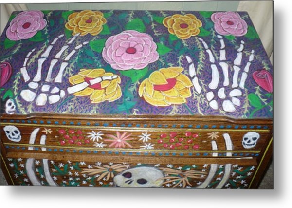 Day Of The Dead Dresser Metal Print