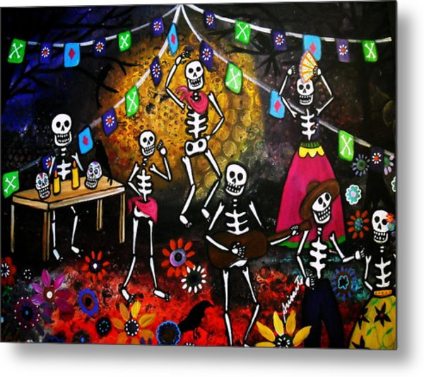 Day Of The Dead Festival Metal Print