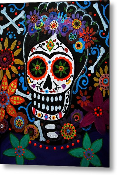 Day Of The Dead Frida Kahlo Painting Metal Print
