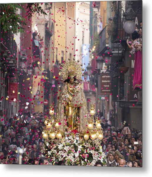 Day Of The Virgen De Los Desamparados Metal Print