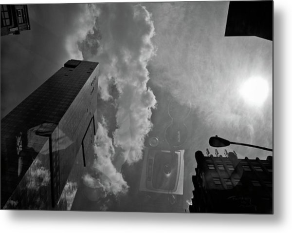 Day View With Clouds Metal Print