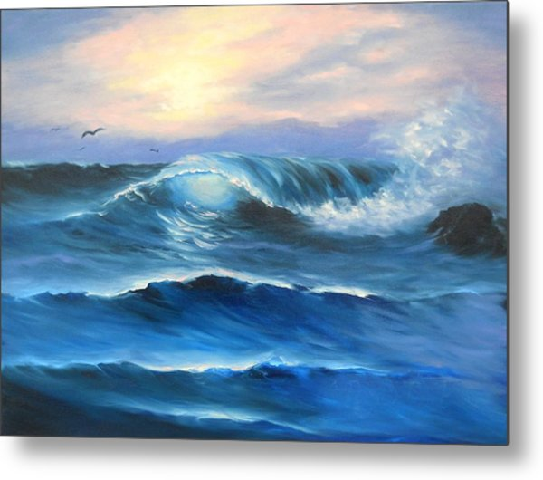 Daybreak At Sea Metal Print