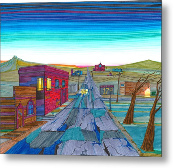 Daybreak In Mckenzie County Metal Print