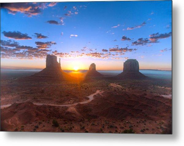 Daybreak Monument Valley Metal Print