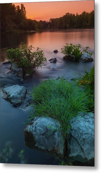 Metal Print featuring the photograph Daybreak Over The Old Riverbed by Davor Zerjav