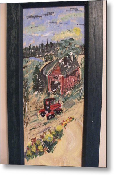 Day's Done On The Farm Metal Print by Bob Smith