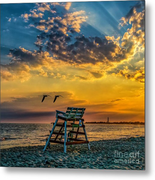 Days End In Cape May Nj Metal Print