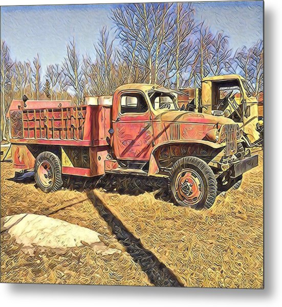 Days Of Old Canol Pipeline Project  Metal Print