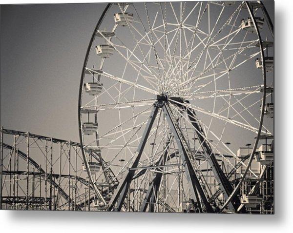 Daytona Beach Ferris Wheel Metal Print