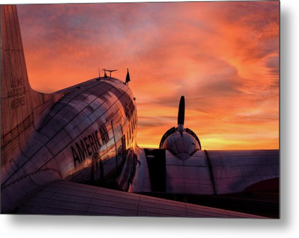 Dc-3 Dawn - 2017 Christopher Buff, Www.aviationbuff.com Metal Print