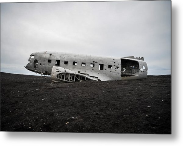 Dc-3 Wreck On The Solheimasandur Metal Print