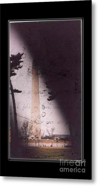 Dc Grunge  Metal Print by Lynn Gettman