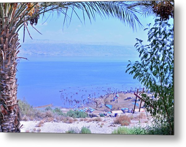 Dead Sea Overlook 2 Metal Print