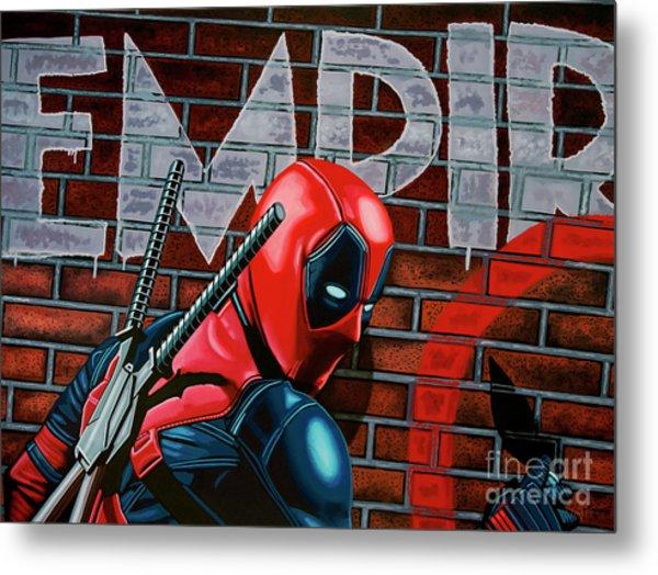 Deadpool Painting Metal Print