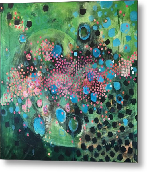 Metal Print featuring the painting Dear Sugar A Pocket Of Delights by Laurie Maves ART