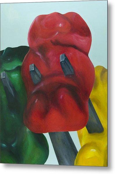 Death Of A Gummy Bear I Metal Print by Josh Bernstein