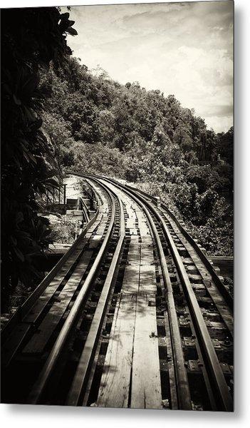 Death Railway Metal Print by Lois Romer