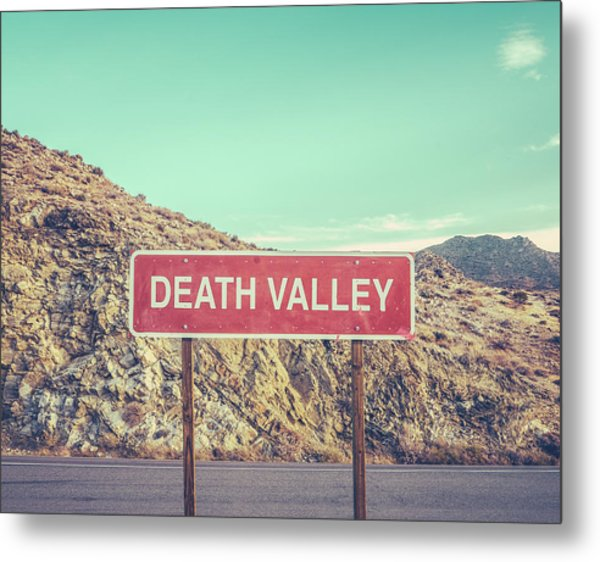 Death Valley Sign Metal Print