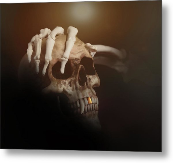 Death's Head Metal Print