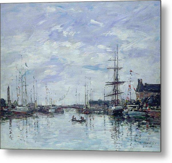 Deauville The Dock Metal Print