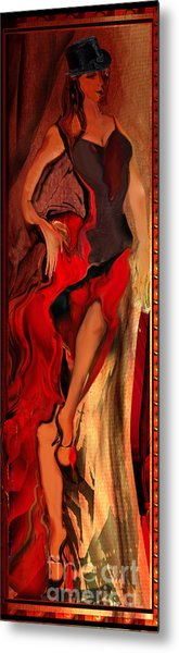 Debut In Red Metal Print by Anne Weirich
