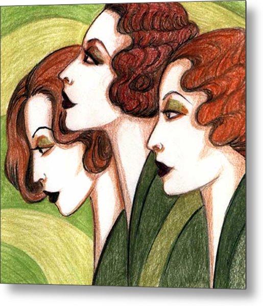 Debutante Trio Metal Print