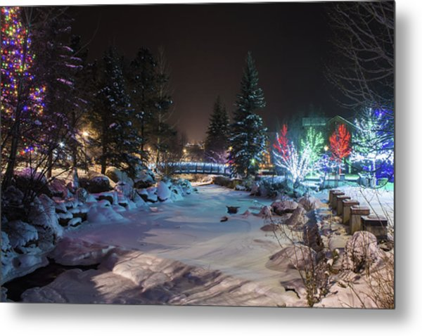 December On The Riverwalk Metal Print