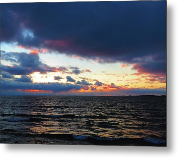 December Sunset, Wolfe Island, Ca. View From Tibbetts Point Lighthouse Metal Print