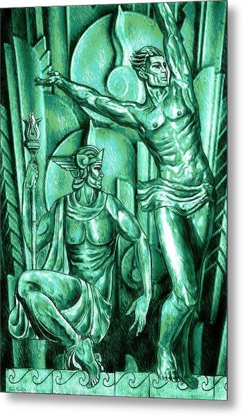 Deco Olympus Patina Metal Print
