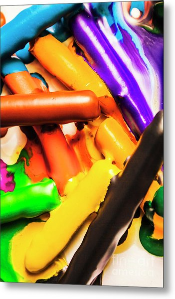 Deconstructing The Colour Wheel Metal Print