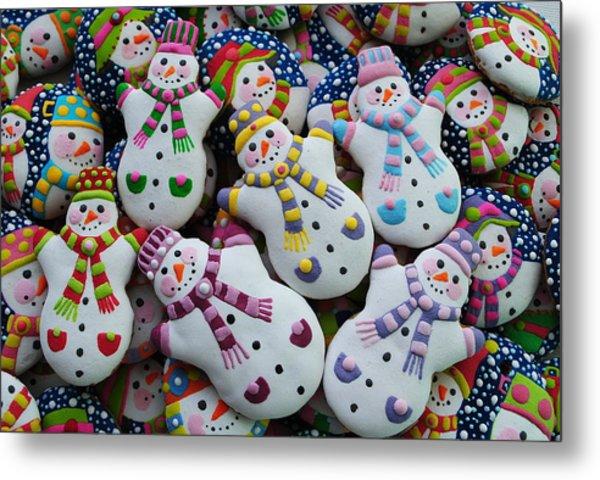 Decorated Christmas Cookies Metal Print