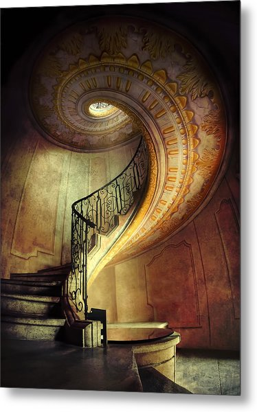 Decorated Spiral Staircase  Metal Print