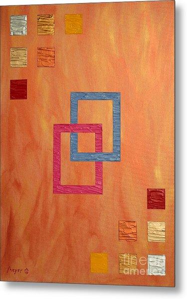 Decorative Squares Metal Print by Sascha Meyer
