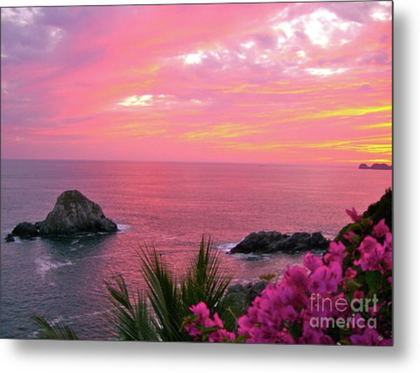 Deep Red Sea Metal Print